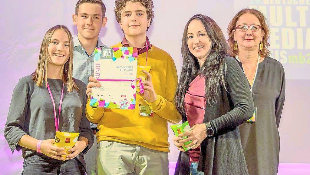 Auszeichnung: Albeck-Gymnasiasten machen dritten Platz beim Deutschen Multimediapreis mb21